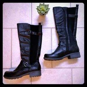 Earth Origins Expandable Leather Moto Boots